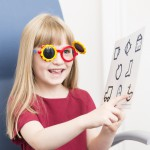 Four-year-old eye examination