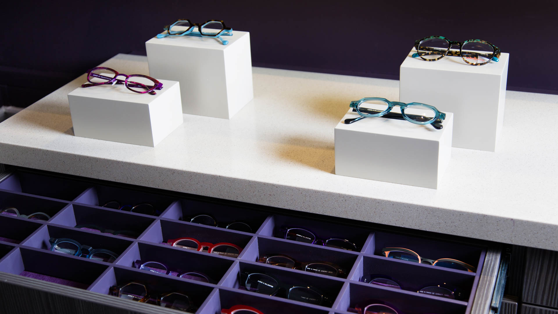 Stylish glasses display