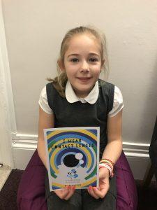 Zara, myopia management patient, in our Edinburgh practice